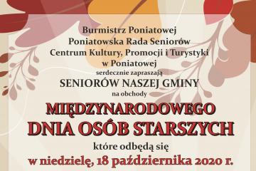 plakat zaproszenia na dzien seniora