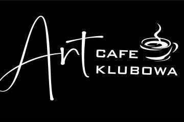 logo art cafe klubowa na czarnym tle