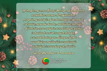 kartka bożonarodzeniowa z życzeniami świątecznymi od CKPIT