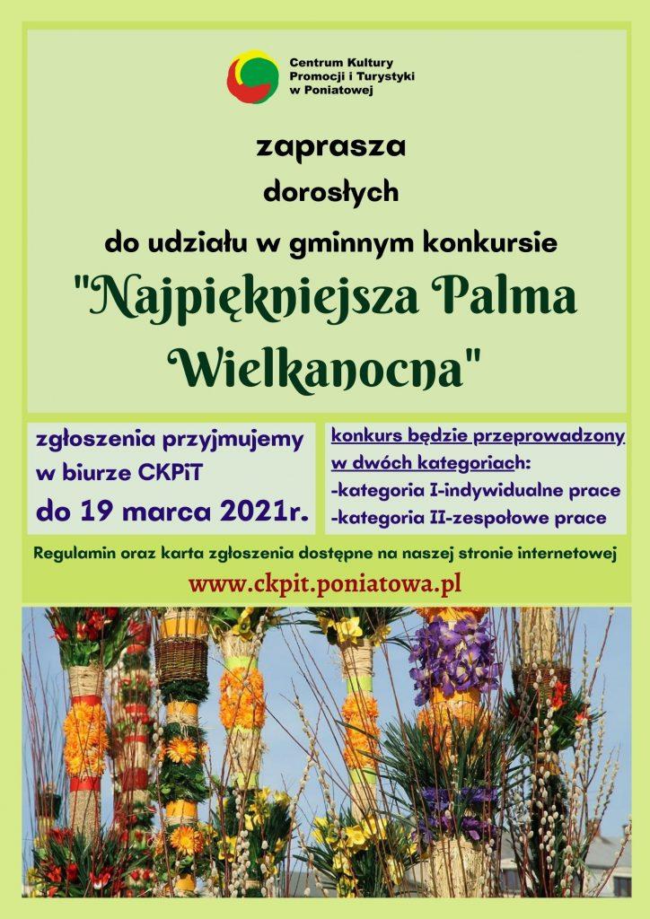 plakat konkurs najpiękniejsza palma wielkanocna