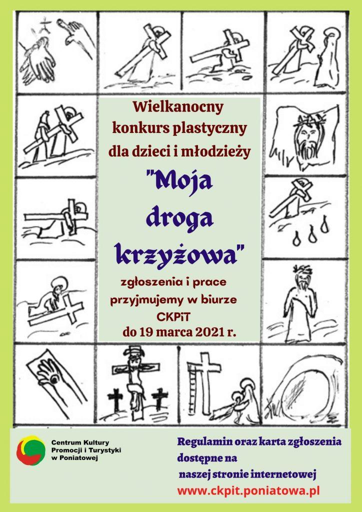 plakat konkurs moja droga krzyżowa
