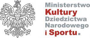 logo ministerstwa kultury dziedzictwa narodowego i sportu po lewej orzeł