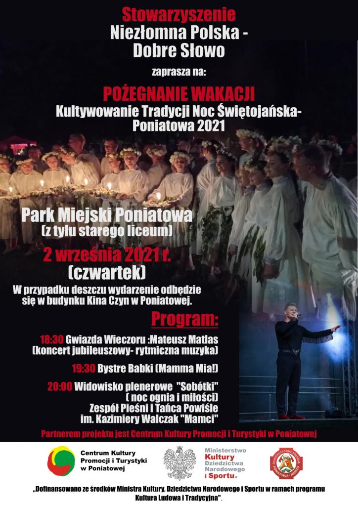 plakat stowarzyszenie niezłomna polska dobre słowo