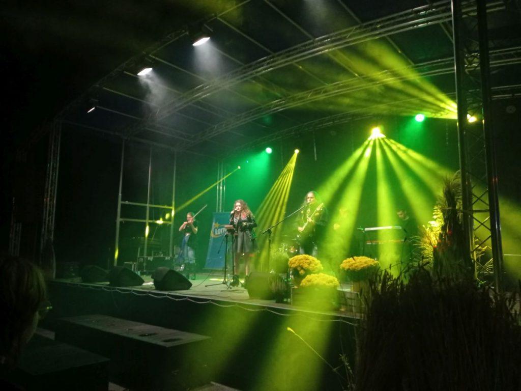 zdjęcie zespól na scenie oświetlonej na zielono